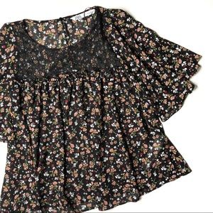 Zara Floral Laced Top